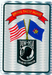 PEGATINA REFLECTANTE POW MIA BRING THEM HOME