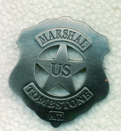 INSIGNIA PLACA MARSHAL TOMBSTONE.