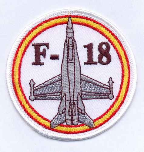 PARCHE BORDADO F-18 - BLANCO