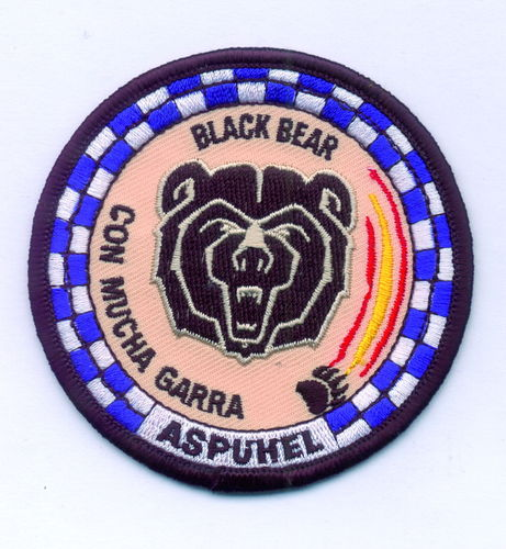 PARCHE BORDADO ASPUHEL BLACK BEAR