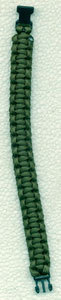 PULSERA PARACORD 15 MM. VERDE