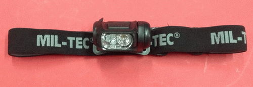 LINTERNA FRONTAL MIL-TEC 4 COLOR LED