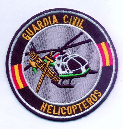 PARCHE BORDADO HELICÓPTEROS GUARDIA CIVIL.