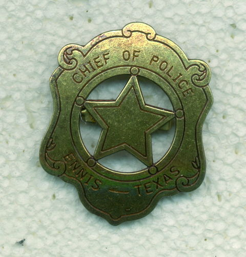 INSIGNIA PLACA CHIEF OF POLICE ENNIS TEXAS.