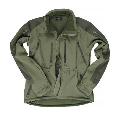 CHAQUETA SOFTSHELL PLUS VERDE.