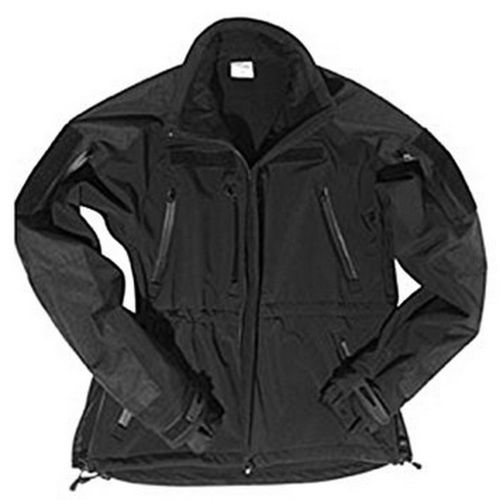 CHAQUETA SOFTSHELL PLUS NEGRA.