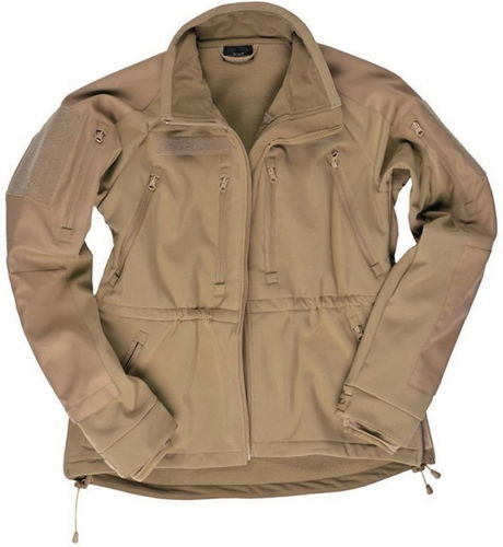 CHAQUETA SOFTSHELL PLUS COYOTE.