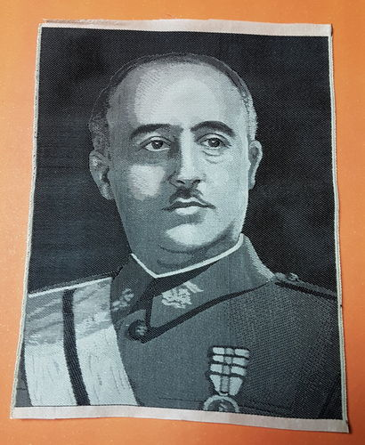 PARCHE BORDADO FRANCISCO FRANCO.
