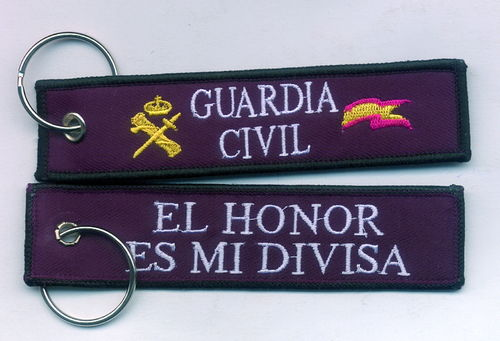 LLAVERO BORDADO GUARDIA CIVIL.