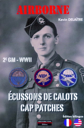 AIRBORNE. 2ª GM-WWII. ÉCUSSONS DE CALOTS. CAP PATCHES.